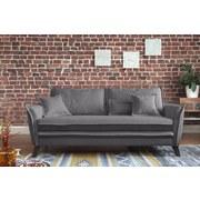 Dreisitzer-Sofa mit Kissen Charming Charlie, Webstoff - Türkis/Hellgrau, Basics, Holz/Holzwerkstoff (180/85/90cm) - MID.YOU