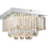 LED-Deckenleuchte Bena - Chromfarben/Klar, MODERN, Kunststoff/Metall (30/30/20cm)