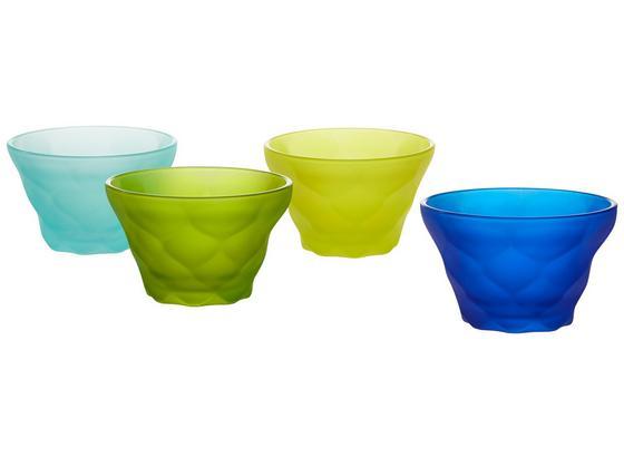 MISKA NA ZMRZLINU CINDY - mátově zelená/světle modrá, Moderní, sklo (0,2l) - Mömax modern living