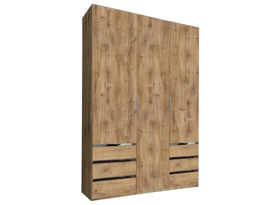 Drehtürenschrank mit Schubladen 150cm Level 36a, Eichendekor - Eichefarben, MODERN, Holzwerkstoff (150/216/58cm)