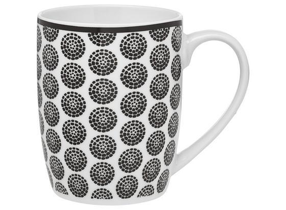 Hrnček Na Kávu Shiva - čierna/biela, Štýlový, keramika (8,5/10,5cm) - Mömax modern living