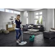 Bodenreinigungsset Set Classic Mop Viscose - Türkis/Weiß, Basics, Kunststoff/Metall - Leifheit