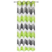 Ösenvorhang Holly - Grau/Grün, MODERN, Textil (140/245cm) - LUCA BESSONI