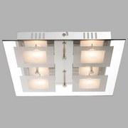 LED-Deckenleuchte Light - Chromfarben, MODERN, Glas/Kunststoff (30/30/5,3cm)