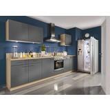 Einbauküche Star individuell planbar - Grau, Holzwerkstoff - Express