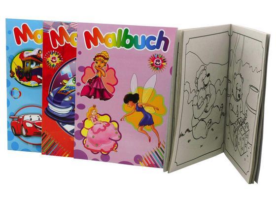 Malbuch Franca - Multicolor, KONVENTIONELL, Papier (21/29/0,5cm)