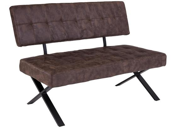 Sitzbank Donna Ib - Anthrazit/Braun, MODERN, Textil/Metall (140/93/61cm)