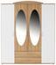 Ruhásszekrény Touch - Fehér, konvencionális, Faalapú anyag (168/196/52cm)