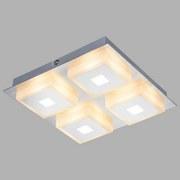 LED-Deckenleuchte Quadralla - Chromfarben, MODERN, Kunststoff/Metall (20/20/4cm)