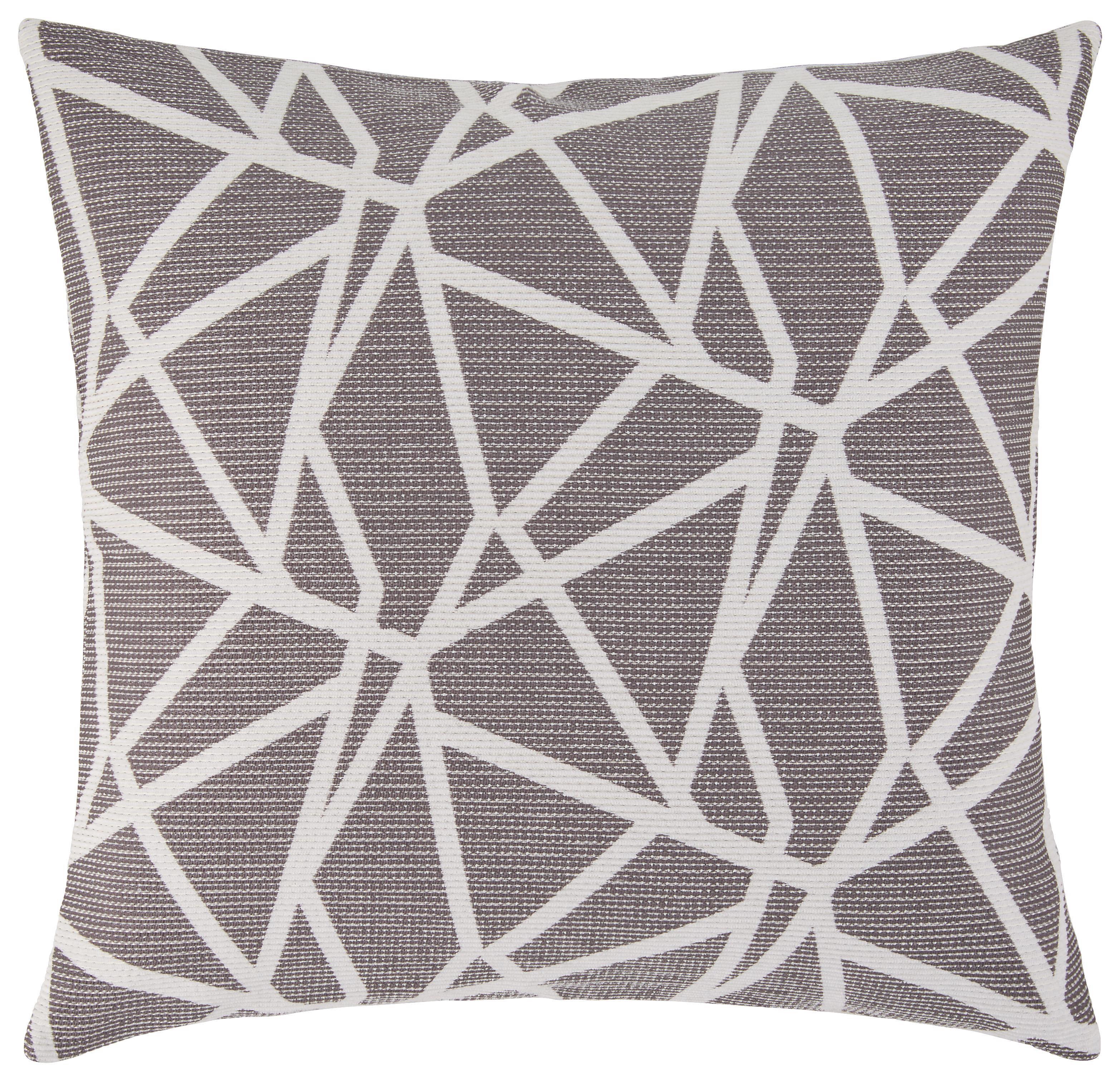 Polštář Ozdobný Renata -ext- - bílá/šedá, Konvenční, textil (50/50cm) - MÖMAX modern living