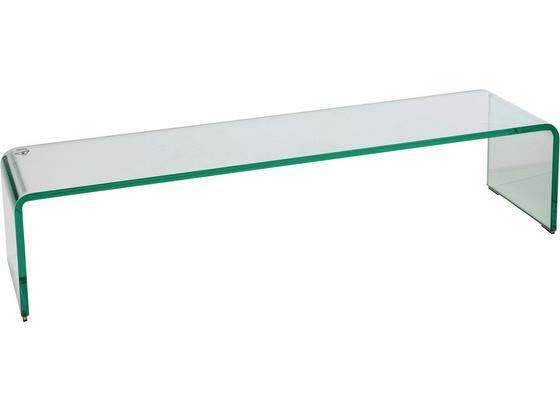 Tv Nadstavec Hagen - číra, Moderný, sklo (90/20/25cm)