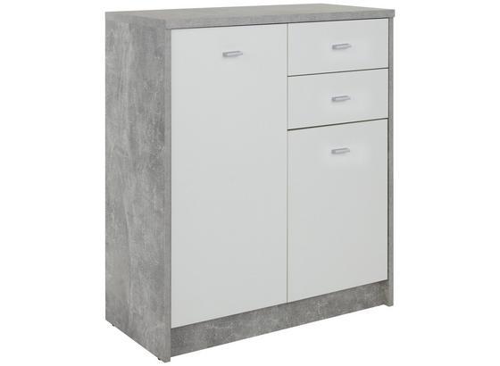 Komoda 4-you New Yuk04 - sivá/biela, Moderný, kompozitné drevo (74/85,4/34,6cm)
