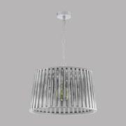 Hängeleuchte Kinross 1 - Weiß, MODERN, Holz/Metall (47/110cm)