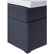 Boxspringbett mit Topper & Strasssteinen 180x200 Luminosa - Anthrazit/Schwarz, MODERN, Textil (180/200cm)