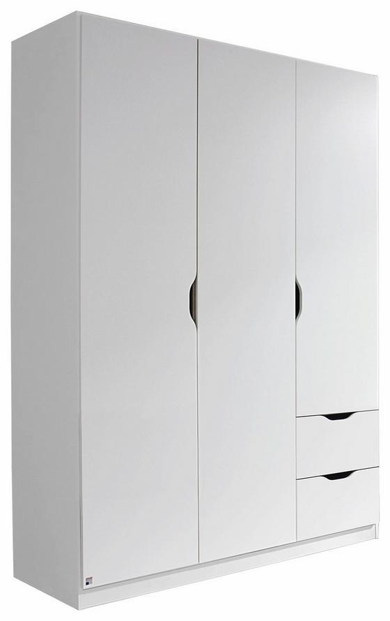 Kombischrank Freising 136 cm Weiß - Weiß, MODERN, Holzwerkstoff (136/197/54cm)