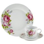 Kaffeeservice, Penelope 18-tlg. Set, 6 Personen - Pink/Hellblau, ROMANTIK / LANDHAUS, Keramik (//null) - James Wood