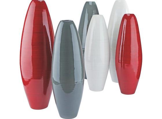 Váza Diana - sivá/biela, Štýlový, drevo (22/65cm) - Mömax modern living