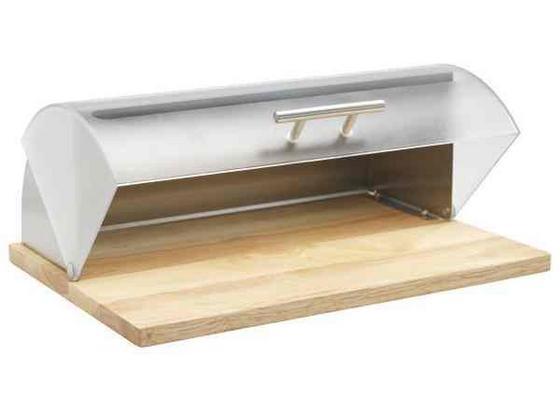 Chlebník Brenda - průhledné/přírodní barvy, dřevo/umělá hmota (30/16,5/39cm) - Mömax modern living