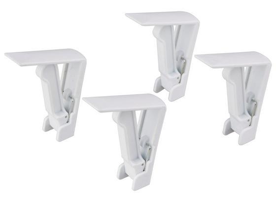Tischtuchklammer Weiß, 4 Stk. - Weiß, KONVENTIONELL, Kunststoff (5,5cm) - Fackelmann