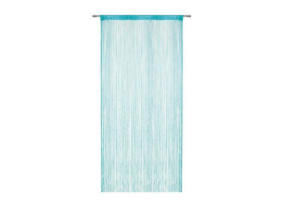 Provázková Záclona Franz - petrolej, textil (90/245cm) - Modern Living