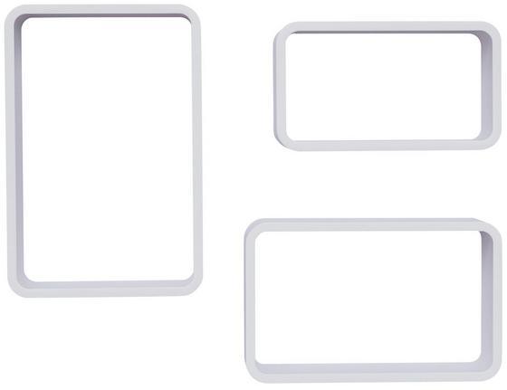 REGÁL NÁSTĚNNÝ SVEN - bílá, Moderní, dřevěný materiál (45/40/35/30/25/20/11cm)