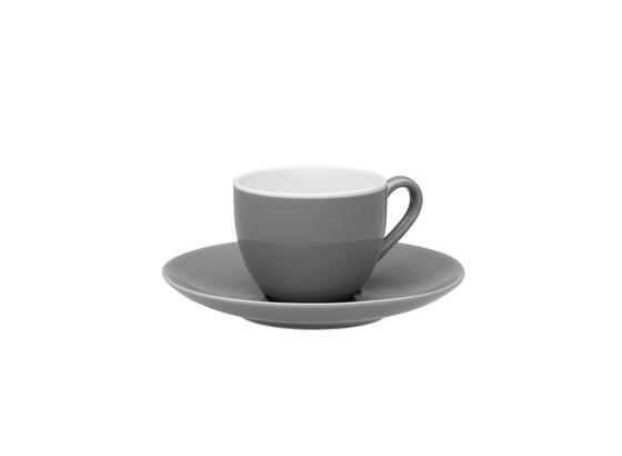 Šálka Na Espresso S Podšálkou Sandy - sivá, Konvenčný, keramika (6,4/5cm) - Mömax modern living