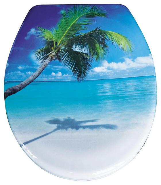 WC-Sitz Duroplast Caribbean - Blau/Creme, MODERN, Kunststoff (37,4/45,3cm)