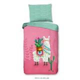 Bettwäsche Lalama 140/200cm Multicolor/Pink - Pink/Multicolor, Basics, Textil