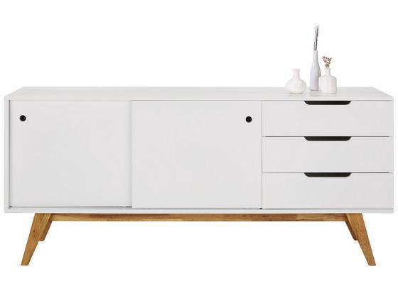 Komoda Sideboard Durham - farby dubu/biela, Moderný, drevo/kompozitné drevo (180/80/45cm) - Mömax modern living