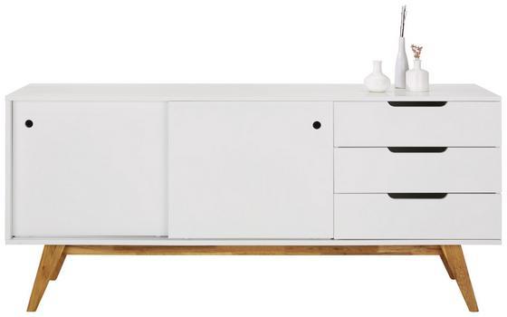 Komoda Sideboard Durham - prírodné farby/biela, Moderný, drevo/kompozitné drevo (180/80/45cm) - Mömax modern living