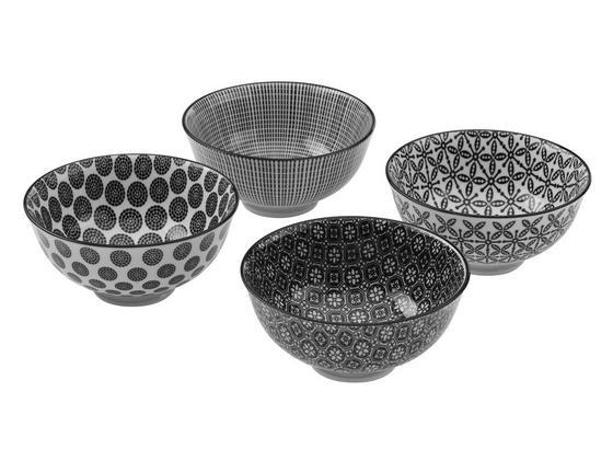Misky Na Omáčky Shiva - čierna/biela, Štýlový, keramika (11,5/5,8cm) - Mömax modern living