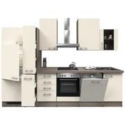 Küchenblock Eico 310 cm Magnolie - Edelstahlfarben/Eichefarben, MODERN, Holzwerkstoff (310/60cm)