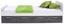 Postel Star - bílá/tmavě šedá, Konvenční, kompozitní dřevo (90/200/cm)