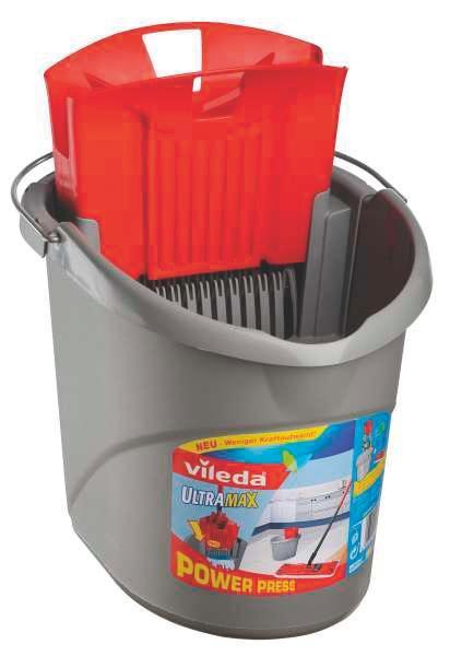 Ultramax Vödör Vileda F25223 - szürke, konvencionális, műanyag (15l)