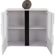 Kommode Split 2t B:100cm Weiß/ Schwarz Hochglanz - Schwarz/Weiß, MODERN, Holzwerkstoff (100/90/42cm)