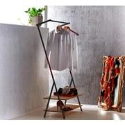 Kleiderständer Scandic Vi 80cm Schwarz - Schwarz, MODERN, Kunststoff/Metall (80/160/40cm)