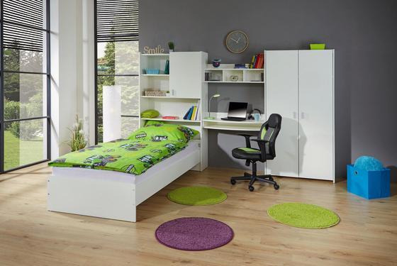 Jugendzimmer in Weiß