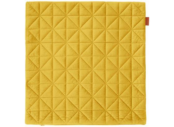 Povlak Na Polštář Mary Samt - barvy mosazi, Moderní, textil (45/45cm) - Mömax modern living