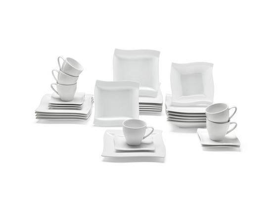 Kombinovaný Servis 30-dielny, Katja - biela, keramika - Premium Living