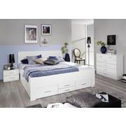 Stauraumbett mit 6 Schubladen 180x200 Isollta Weiß - Weiß, KONVENTIONELL, Holzwerkstoff (180/200cm) - MID.YOU