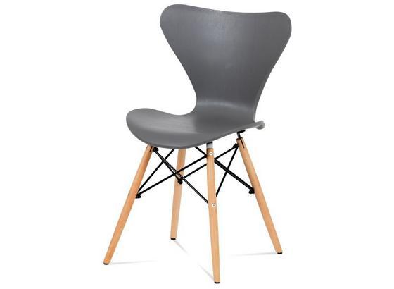 Stolička Bela 1 - sivá/farby borovice limbovej, Moderný, drevo/plast (46/82/49cm)