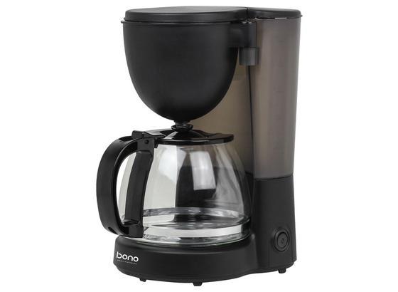Filterkaffeemaschine Pia - Klar/Edelstahlfarben, KONVENTIONELL, Glas/Kunststoff (23,7/16,2/29,3cm) - Bono