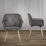 Židle S Područkami Elsa - šedá/barvy buku, Moderní, dřevo/textil (66/81,5/60,5cm) - Modern Living