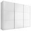 Schwebetürenschrank 249 cm Includo, Weiß - Weiß, MODERN, Holzwerkstoff (249/222/68cm) - Bessagi Home