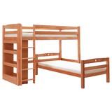 Etagenbett Lupo L 90x200 cm - Buchefarben, Basics, Holz (90/200cm) - Carryhome