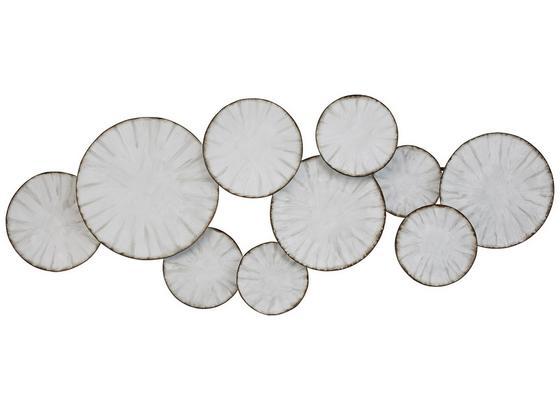 Dekorace Nástěnná Clara - bílá/černá, kov (120/47/5cm) - Mömax modern living