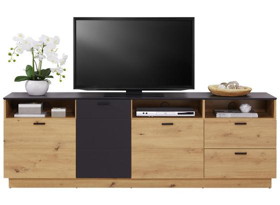 TV-Element Tonale B: 200cm Artisan Eiche, Grau - Eichefarben/Grau, MODERN, Holzwerkstoff (200/68,6/40cm)