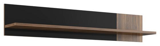 Polcos Elem Lombardo - fekete/diófa színű, konvencionális, faanyagok (140/25,6/21,9cm)