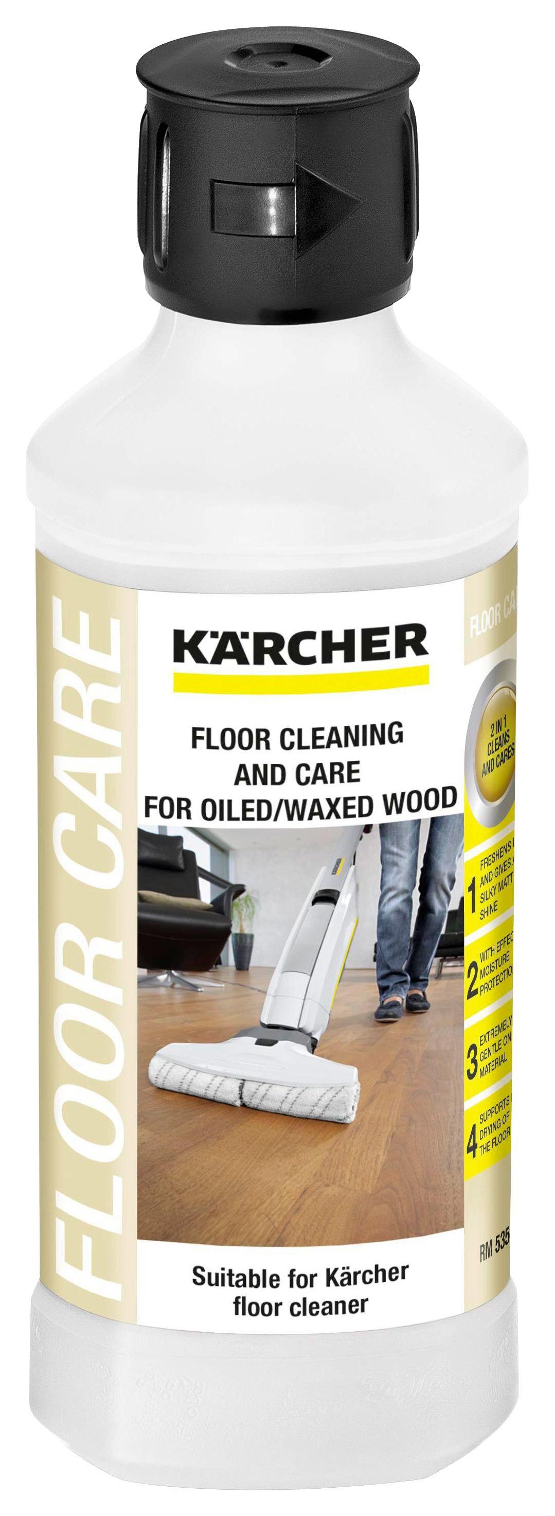 Bodenreinigungsmittel für Geölte/gewachste Holzböden - Schwarz/Weiß, MODERN (6,5/21cm) - Kärcher