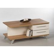 Couchtisch Holz mit Laden South, Weiß/ Eichendekor - Eichefarben/Weiß, Basics, Holzwerkstoff (115/48/60cm)